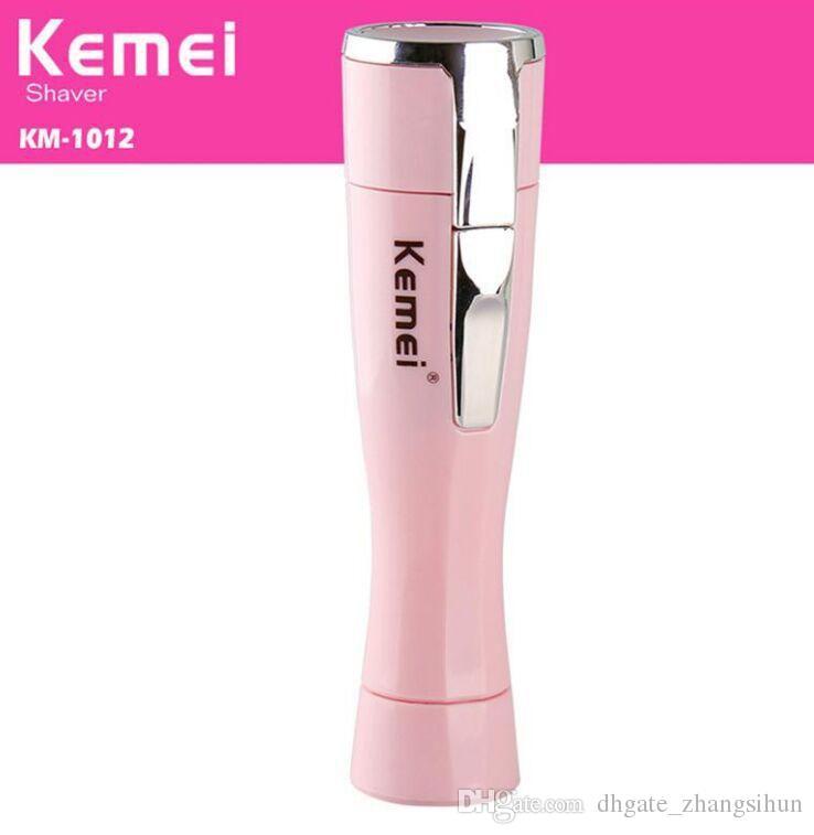 Kemei KM-1012 المحمولة سيدة الشخصية الكهربائية ماكينة حلاقة الحلاقة لنزع الشعر مصغرة إزالة الشعر حلاقة المتقلب
