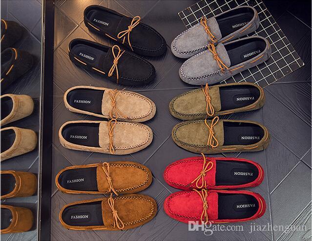 Britischen Stil Marke Mode Sommer Stil Weiche Mokassins Männer Loafers Hohe Qualität Echtes Leder Schuhe Männer Wohnungen Gommino Driving Schuhe J10
