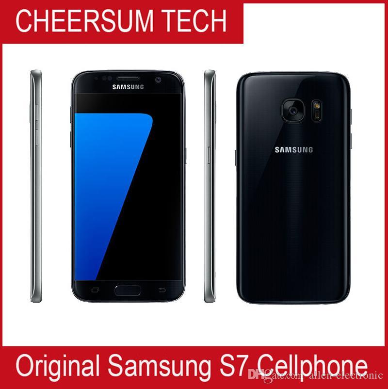 الأصلي سامسونج غالاكسي S7 G930A G930T G930P G930V G930F غير مقفلة الهاتف Octa Core 4GB / 32GB 5.1 بوصة 12MP تم تجديده Samsung الهاتف المحمول