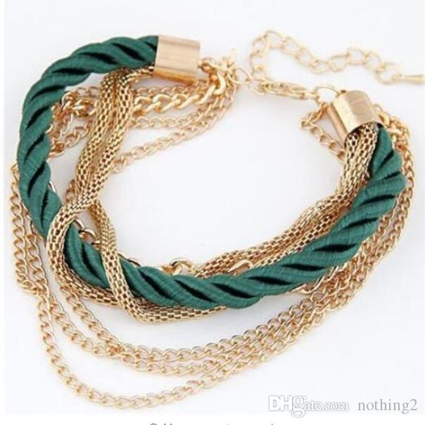 jewelry bracelets for women Fashionable Rope Chain Decoration Bracelet For Girl Six Color Hot Selling Bracelet For Party