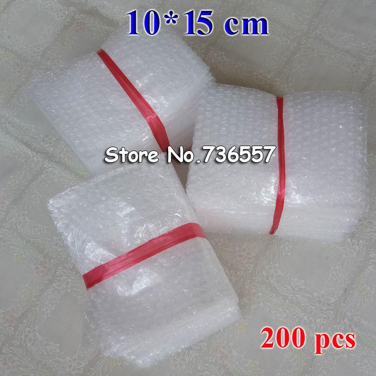 100 * 150 мм пластиковая упаковка конверт Белый пузырь упаковка сумки PE ясно мешок пузыря противоударный мешок двойной фильм 200 шт.
