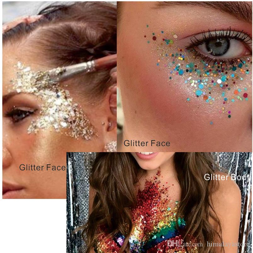 2020 Gl25 Fortune Night Violet Red Eye Glitter Face Body Sequins Decorations Festival Body Dance Makeup Body Art From Himalayastore 1 92 Dhgate Com