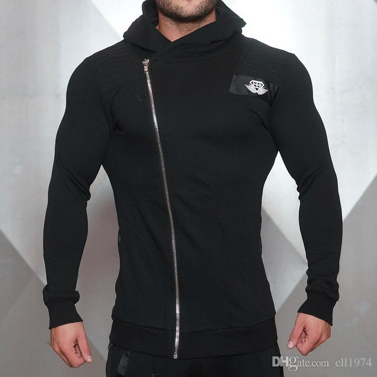 2018 muscle doctoral fitness brothers, men's autumn winter running sports suit, air conditioning and body repair jacket