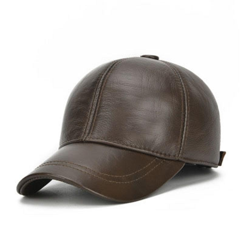 Casual Vingate Solid Leather Baseball Caps For Men Women Winter Warm Snapback Hat hip hop cap 2018 New Brand Apparel Accessories
