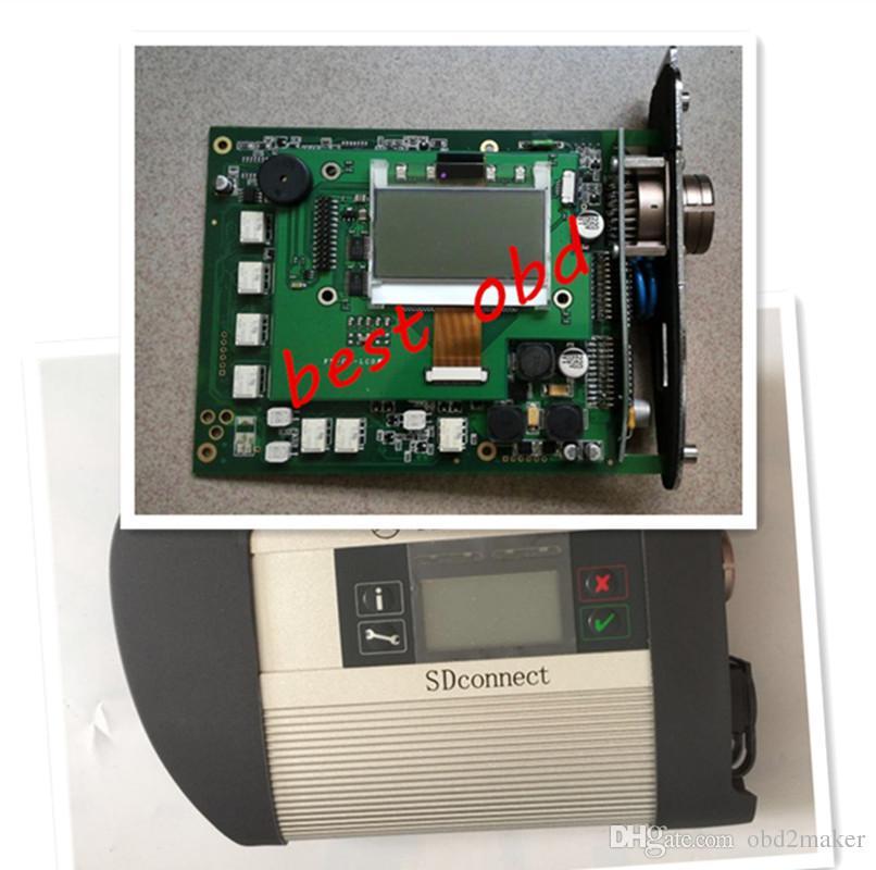 جديد MB Star Compact 4 الوحدة الرئيسية مع واي فاي SD Connect C4 لمرسيدس بنز أداة تشخيص مجانية DHL / EMS