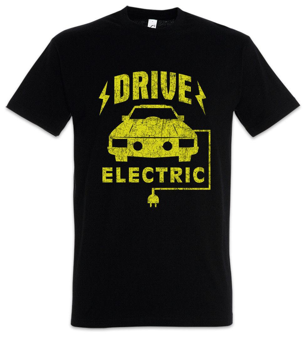 Drive Electric T-Shirt BEV EV Eletric Vehicle Go Green Energy Fun Car Cars
