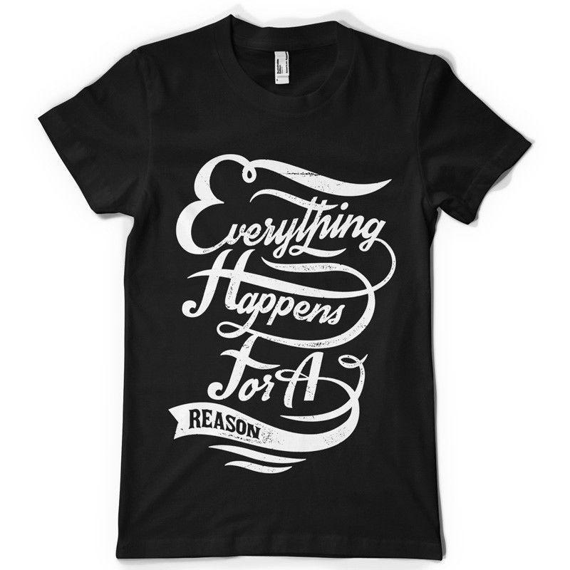 La maglietta nera Everthing Happens For A Reason