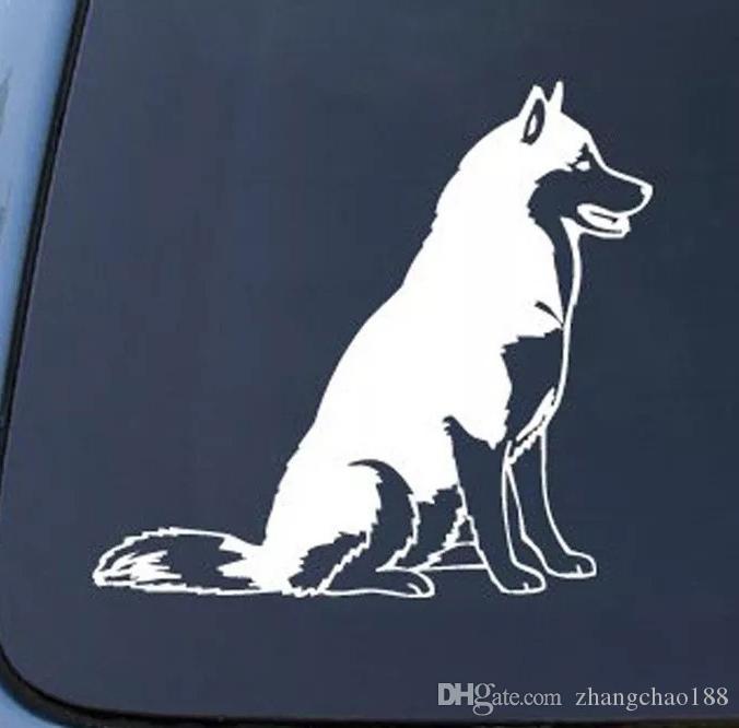 12 * 13.7 cm perro husky siberiano ventana de coche portátil etiqueta engomada de la cubierta ca-392