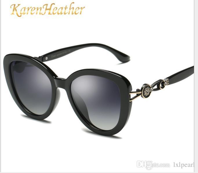 Polarização óculos de sol senhoras tendências da moda diamante óculos de sol personalidade de rua óculos de sol