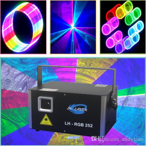 Illuminazione da palcoscenico professionale multicolore 3000mW, sistema di visualizzazione laser RGB con interfaccia di IDDA PC