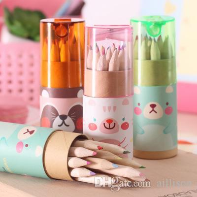 Aillison Eco-friendly Colored Lead Color Drawing Pencil Wood Colour Pencil Sets Of 12 Colour Kids Colored Drawing Pencils Children Graffiti