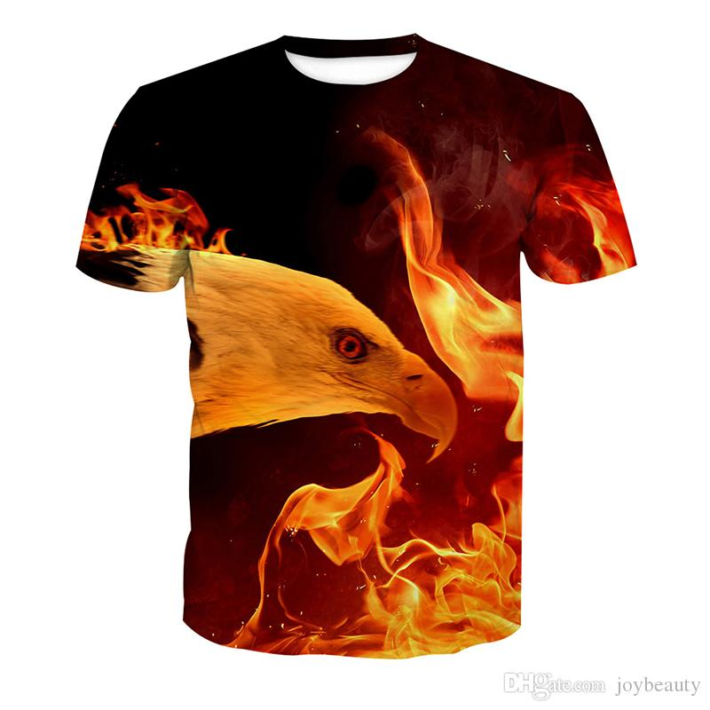 T-shirt fullprint Fire