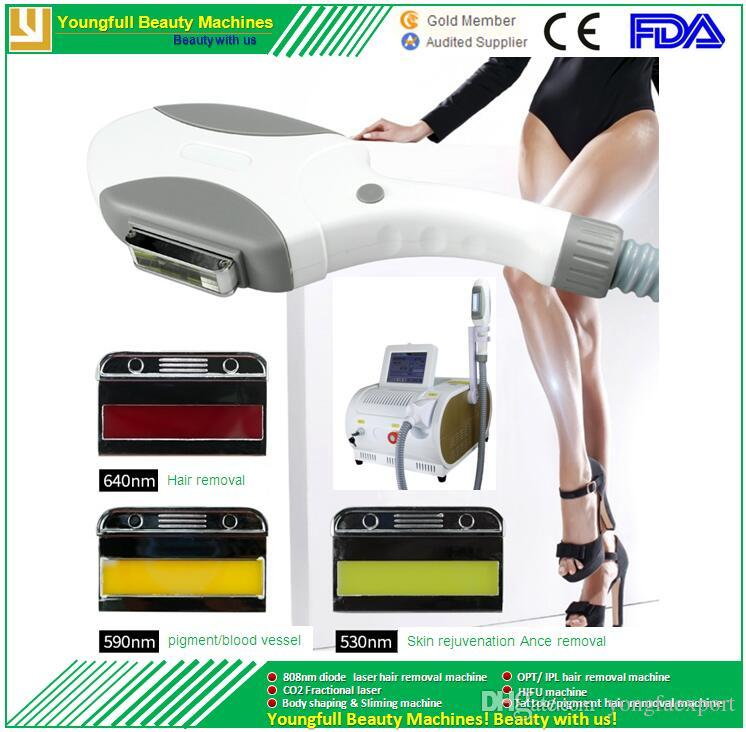 CE approved IEC standard Free shipping 2000W strong power portable SHR IPL diode laser hair removal machine best Sell SHR hair removal OPT