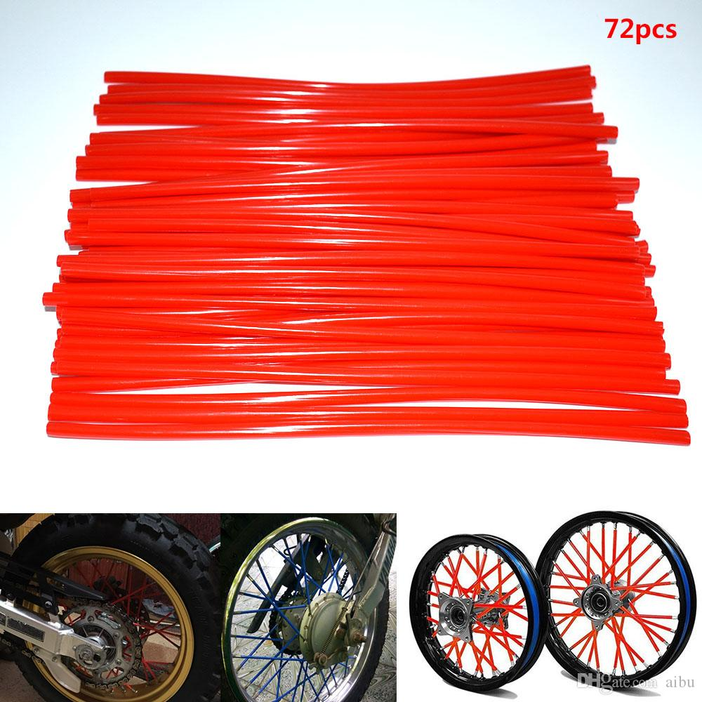 For 36 pieces for most Dirtbikes Motocross Universal Motocross Dirt Bike Enduro Wheel Rim Spoke Wraps Skins Covers Wrap Tubes