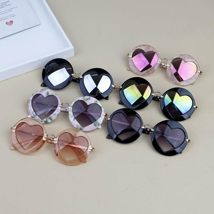2018 أزياء النظارات الشمسية بنين بنات مصمم النظارات الأطفال نظارات شمسية uv400 مراهقون الأزياء الإطار أطفال نظارات شاطئ الملحقات