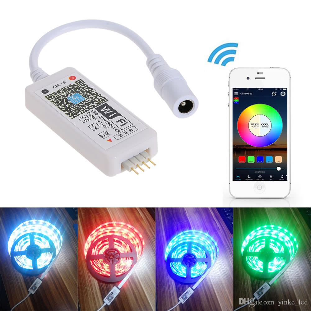 Wifi LED RGB Controller Mini Wireless APP Remote Dimmer For Android IOS Mobile Phone for RGB Flexible Led Strip Light