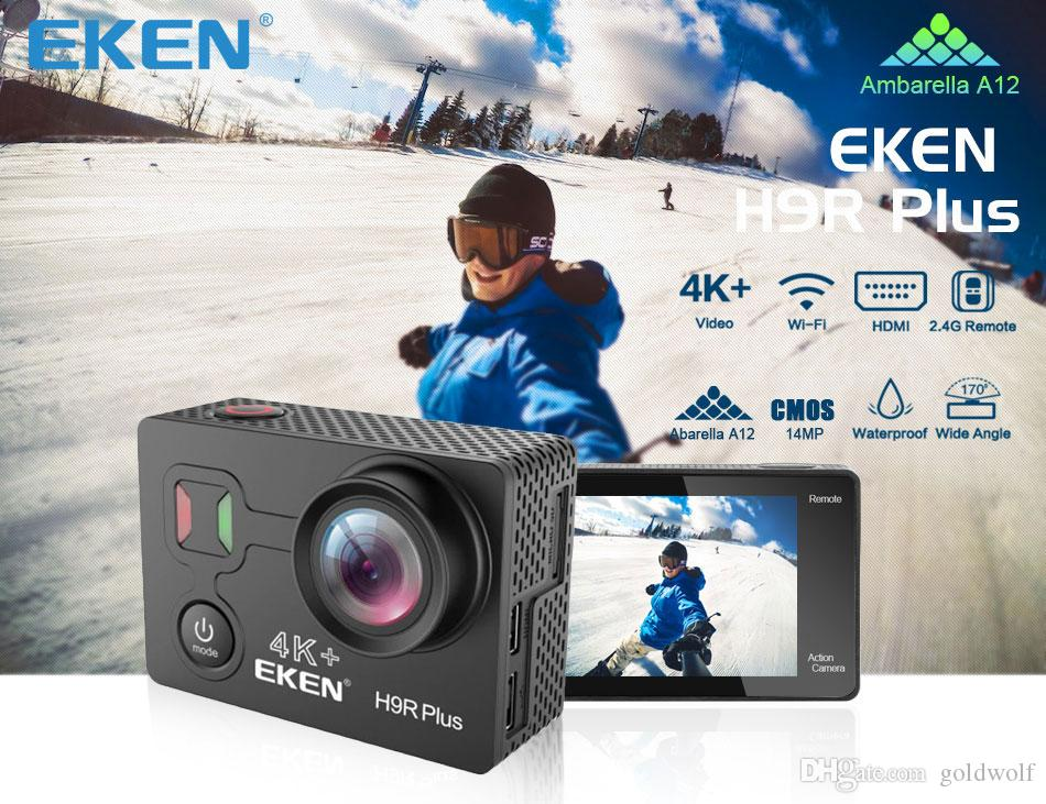 Original EKEN H9R PLUS 4K Ultra HD 2 inch screen Action Sports Camera WIFI HDMI 170 Wide HDMI remote control waterproof free shipping