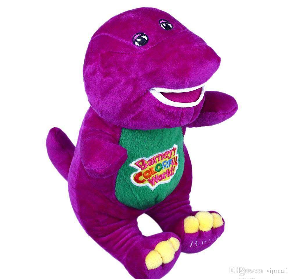 """2018 funny Singing Friends Dinosaur Barney 12"""" I LOVE YOU Plush Doll Toy Gift For Kids"""