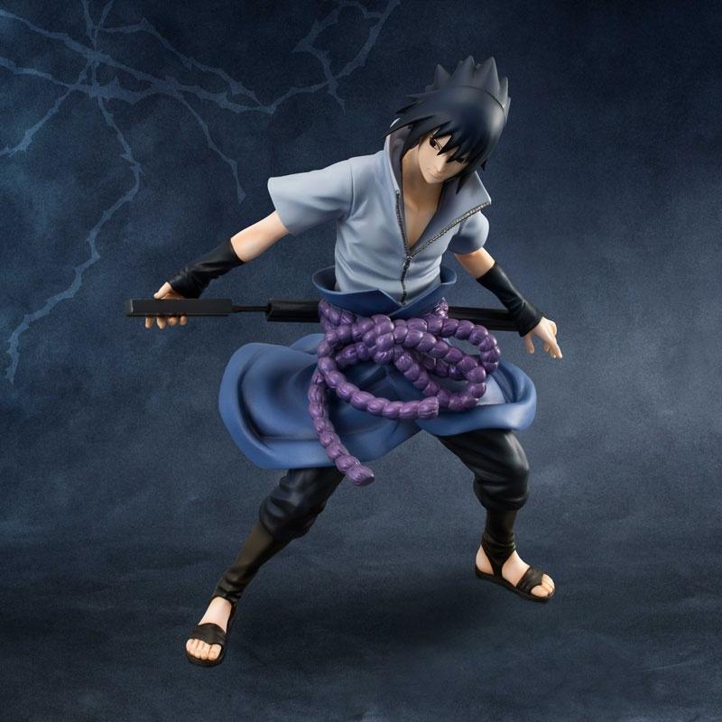 MH Edelstein Naruto Shippuuden Uchiha Sasuke PVC Action Figure-Sammlung Modell Spielzeug 20cm