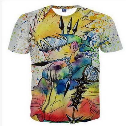 Anime Naruto 3D Divertenti Magliette Nuovi Uomini / Donne di Stampa 3D Carattere T-Shirt Maglietta Femminile Sexy Maglietta Tee Top Vestiti ya45