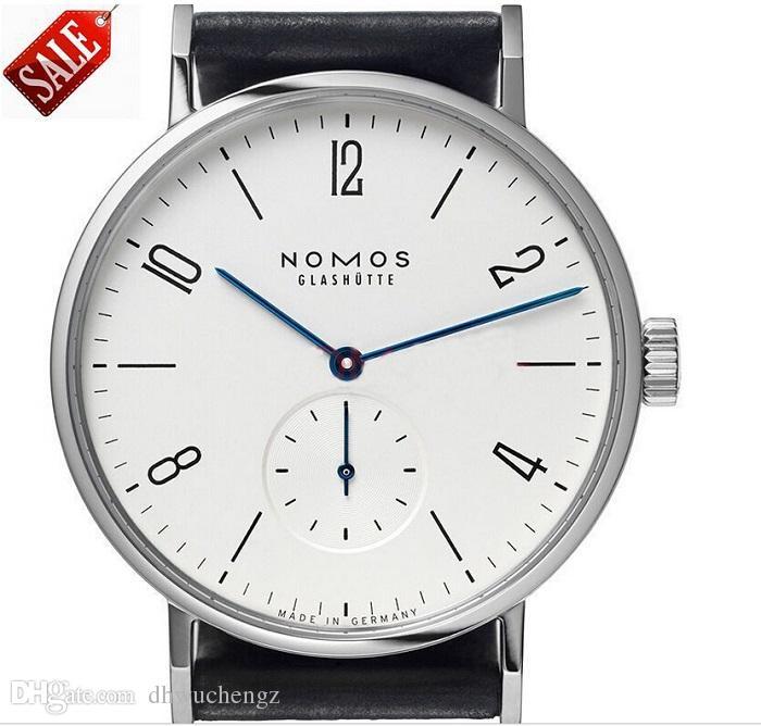 베스트 셀러 브랜드 NOMOS 디지털 다이얼 남자와 여자의 패션 시계 인기 금속 메쉬 밴드 일일 방수 쿼츠 시계 최고의 선물