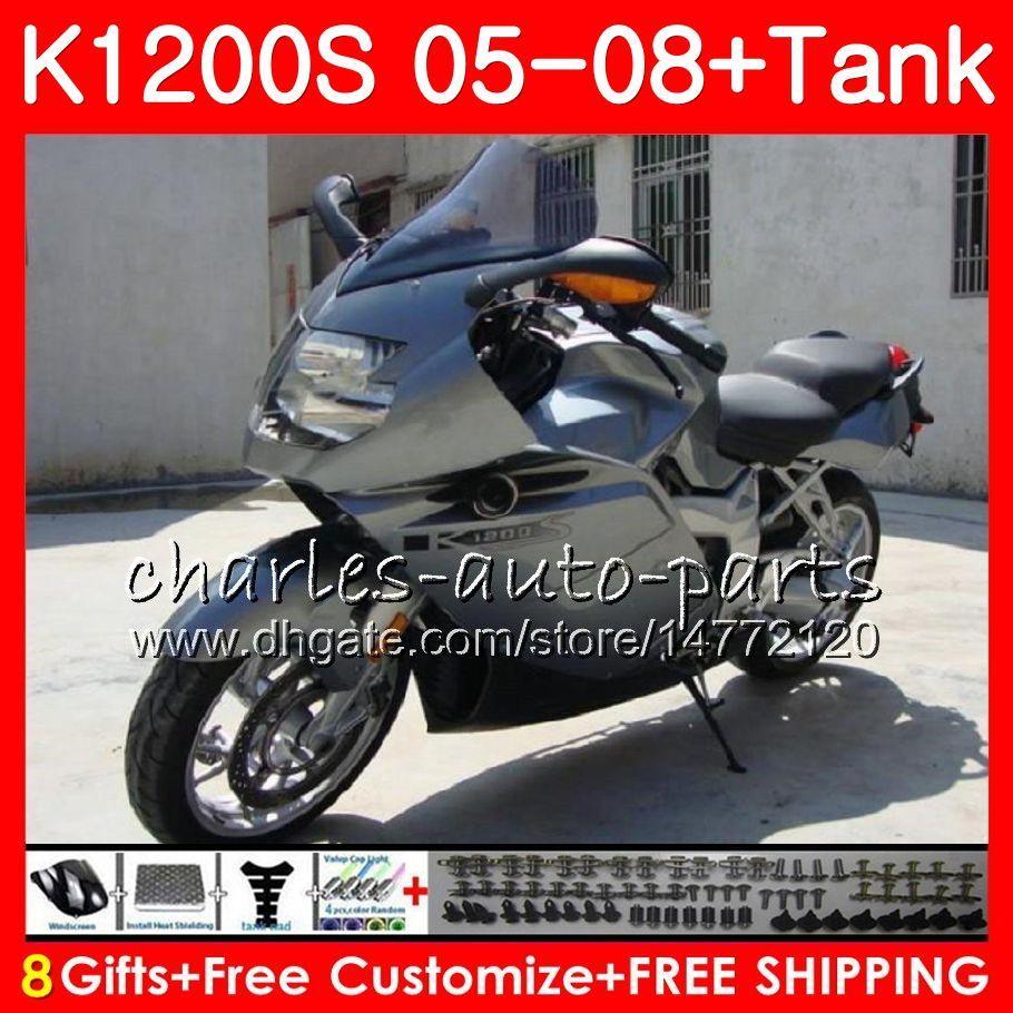 Ciało dla OEM K-1200S K 1200 S 05 10 K1200 S 06 07 08 09 10 Srebrzysta Szary 103HM.28 K 1200S K1200S 2005 2006 2007 2007 2009 2010 Kit
