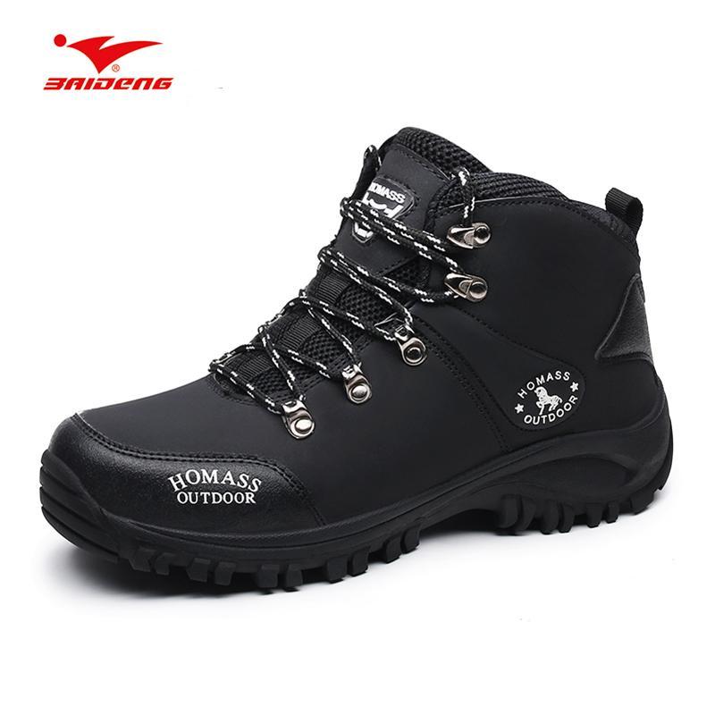 eb156f3d0b7b8 Baideng Outdoor Trekking Shoes Man Summer Mountain Climbing Shoes Black  Camping Hiking Sneakers Botas Tacticas Militares Hombres