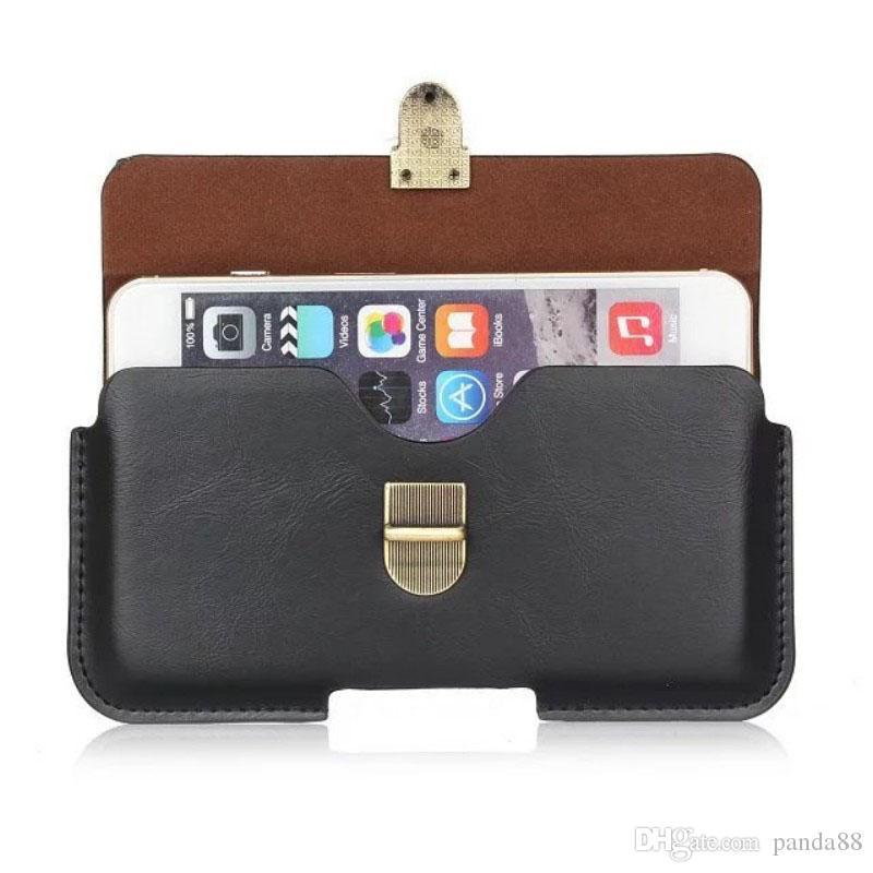Custodia universale in pelle PU con clip da cintura per myPhone Q-Smart III Plus