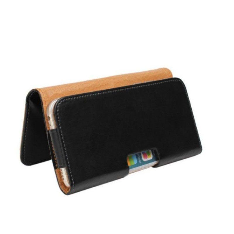 Universal Belt Clip PU Leather Waist Holder Flip Pouch Case for Ark Wizard 1/Benefit S503 Max