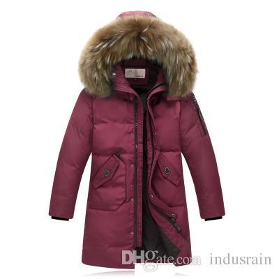 Winter Jackets for kids warm coats Girls Outerwear Fur Collar camouflage Children's Down Jacket Thick Boy Winter Coat Down