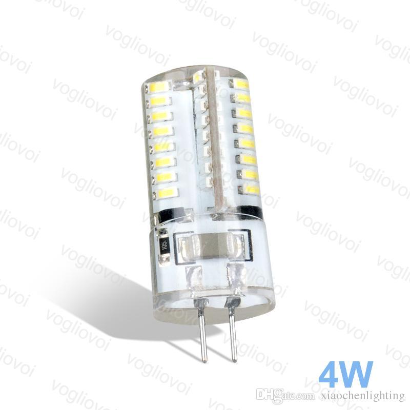 G4 LED 64LED AC220V maíz blanco bulbo 360 Lámparas de silicona cuerpo de cristal para la decoración del hogar de la lámpara Luz Lámpara Bombillas Epacket