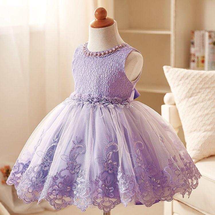 Compre Vestido De Niña De La Flor Del Verano Del Grado Superior Vestidos De Princesa 3 10 Yrs Para Las Niñas De Boda Bordado Formal Del Vestido De