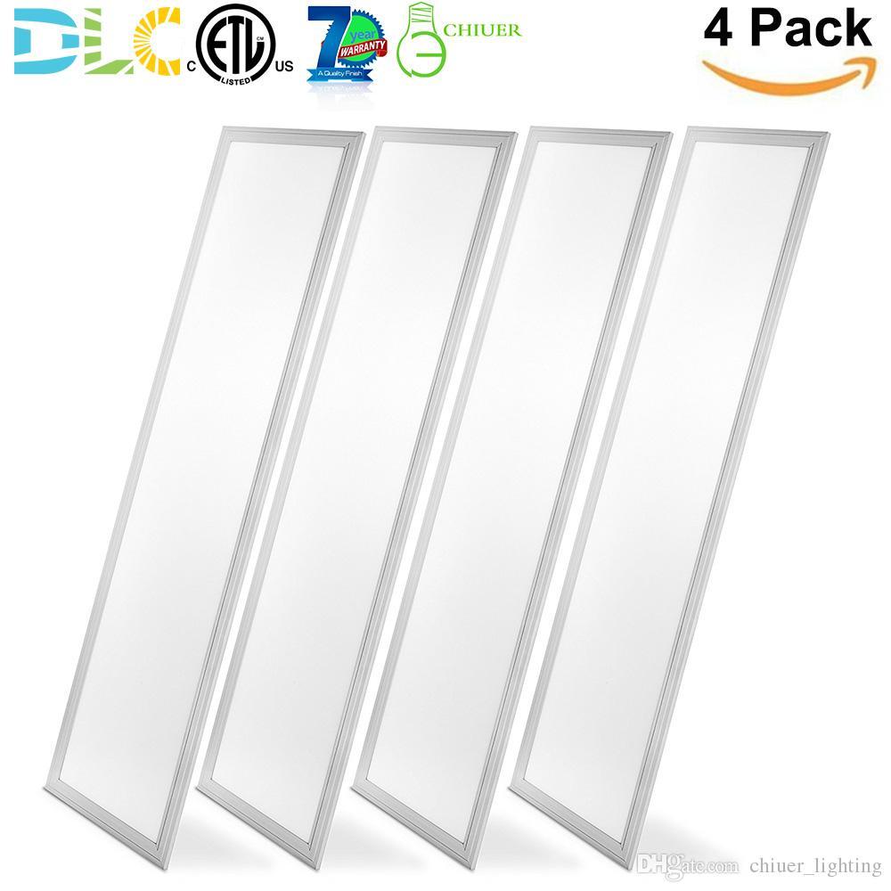 40W LED 1x4ft Painel Luz Plano de teto Fixture fluorescente Troffer substituição Gota Luz de teto 0-10 Regulável Daylight ETL DLC