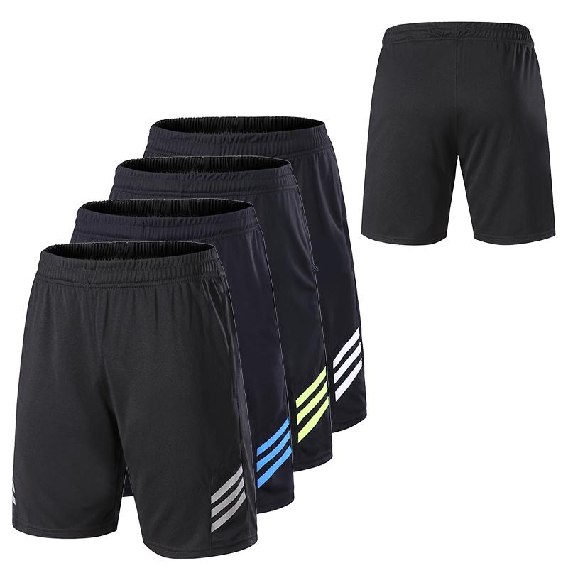 Men Gym Workout Shorts With Pockets Quick Dry Breathable Training Loose Basketball Shorts Men Fitness Running Sport