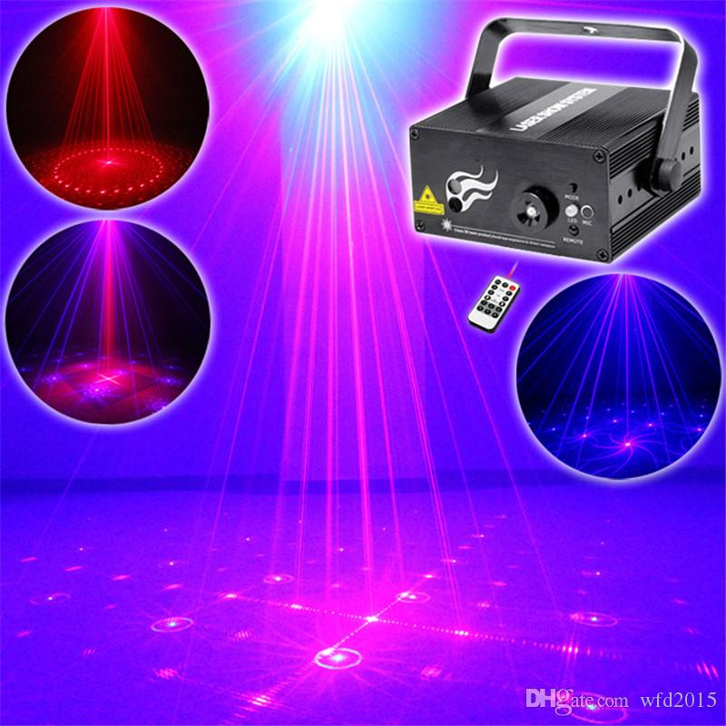 Mini 2 Len 16 RB Red Blue Patterns Projector Stage Equipment Light 3W Blue LED Mixing Effect DJ KTV Show Holiday Laser Stage Lighting L16RB