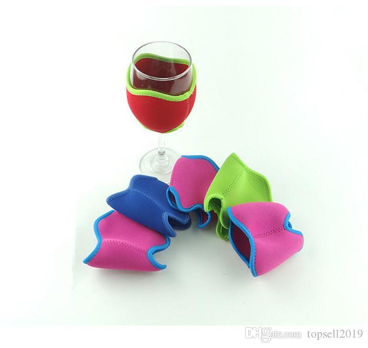 Неопрен Красный бокал для вина держатель кулер шампанское рукав Летний фестиваль Party Club рекламные подарки SN685