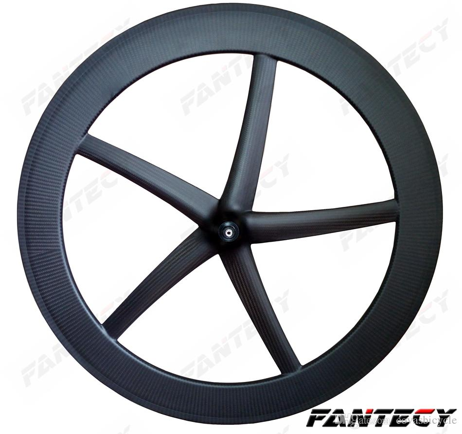 700C 25mm width 5-Spokes Clincher/tubular carbon Wheels Five-spoke 65mm depth for Track/ Road Bike carbon wheelset