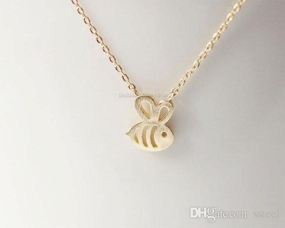 10 قطع صغيرة عسل النحل تلعثم النحل قلادة قلادة المجوهرات طنين الطيور الترقوة التبعي هدية للمرأة