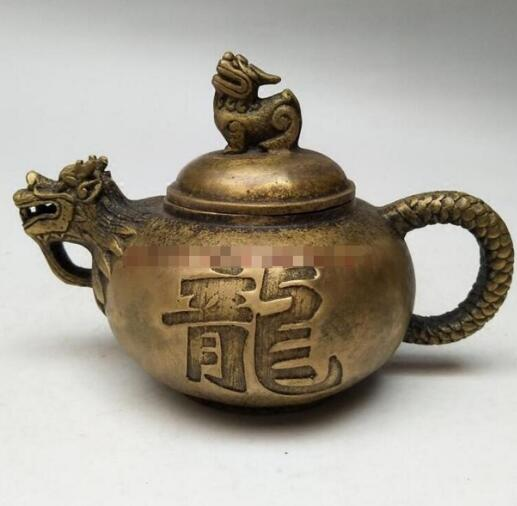 The copper pot leading longxingtianxia copper pot teapot antique collection Home Furnishing jewelry crafts orna
