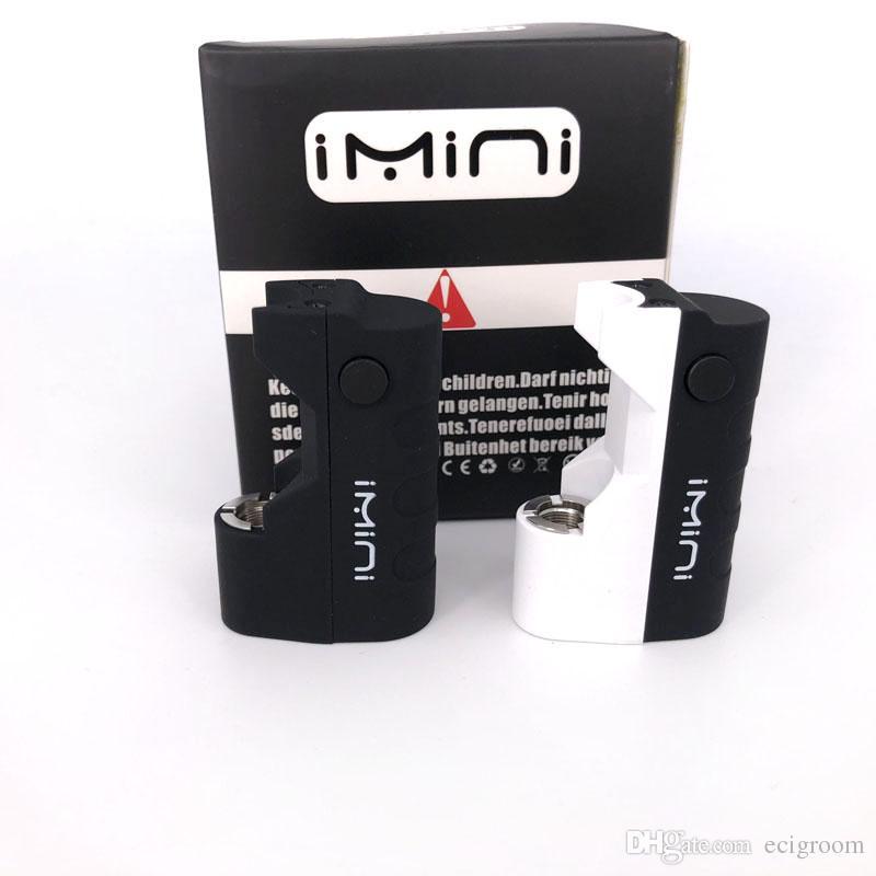 Imini 500mAh Caja Mod baterías aceite espeso cartuchos vaporizador de la batería 510 de rosca en forma de batería vaporizador libertad V1 tanque TH205 TH210 Cera atomizador