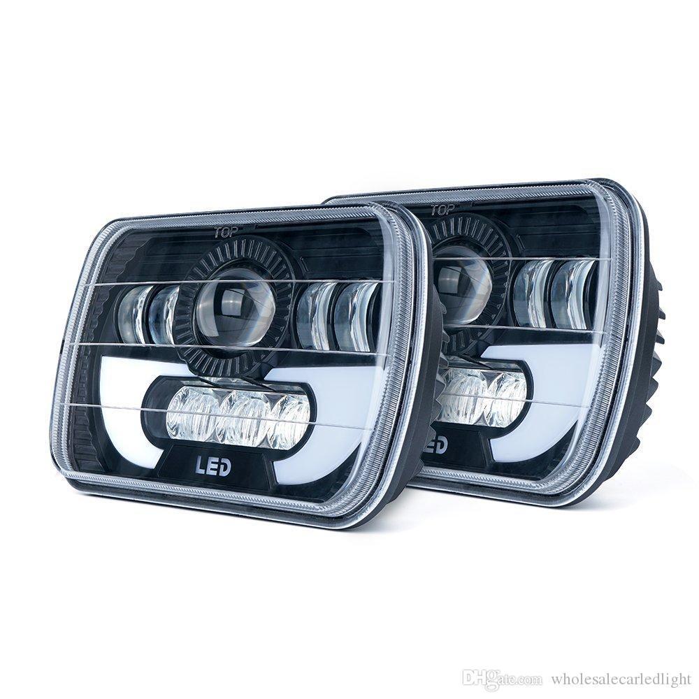 """7x6 5x7 """"90 W LED Projektör Mühürlü Işın Far Jeep Cherokee XJ Kamyon 4X4 Offroad için"""