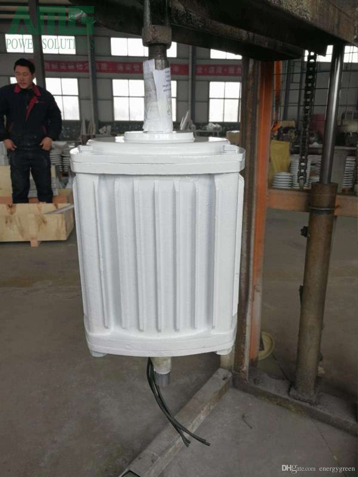 5천와트 / 5kw 260rpm 낮은 속도 sychrous 영구 자석 발전기 발전기 수력 발전기, 48V / 96V ~ 220V ~ 380V, 커스터마이즈으로 허용