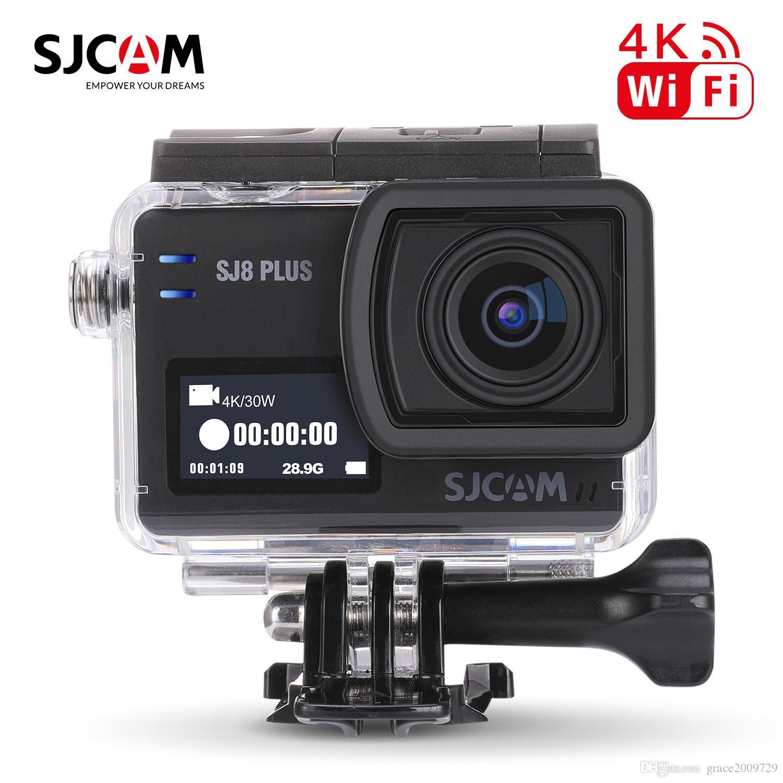 16 ГБ TF карта + оригинальный SJCAM SJ8 плюс родной спортивная камера 2.33 дюйма 4K водонепроницаемый 30 кадров в секунду двойной экран WiFi действий камеры