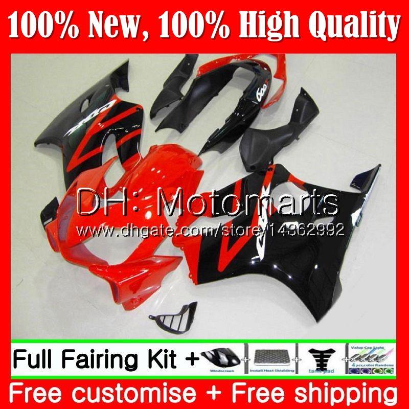 Cuerpo para HONDA CBR 600F4i CBR600 F4i Rojo negro 04 05 06 07 45MT15 CBR 600 F4i CBR600 FS CBR600F4i 2004 2005 2006 2007 Fairing Bodywork