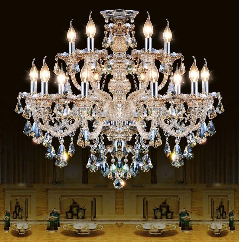 Lampadario di cristallo moderno Soggiorno lustri de cristal Decorazione Tiffany Pendenti e Lampadari Illuminazione domestica Lampada da interno