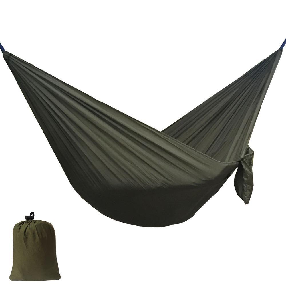 Katı Renk Naylon Paraşüt Hamak Kamp Survival bahçe salıncak Eğlence seyahat açık mobilya ZW-SH15