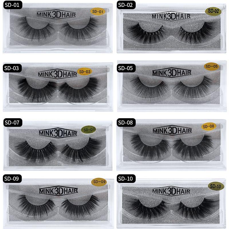 3D Mink Wimpern Augen Make-up Mink falsche Wimpern weiche natürliche starke gefälschte Wimper 3D Eye Lashes Erweiterung Schönheits-Werkzeuge 17 Styles 441