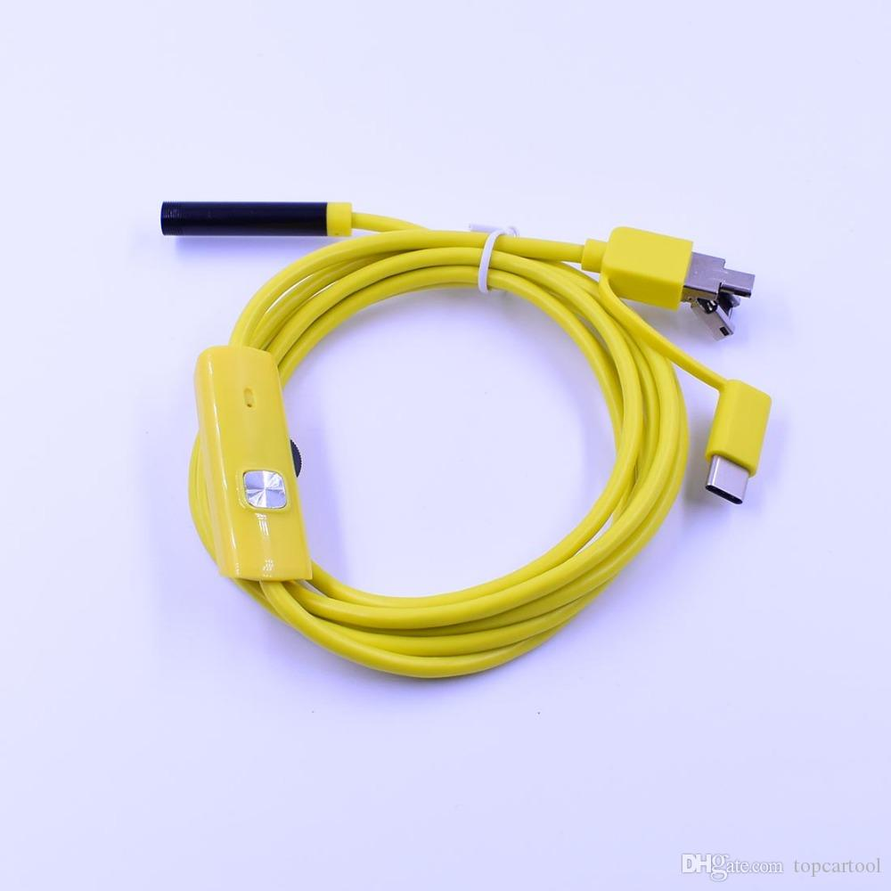 Telecamera mini-endoscopio per endoscopio con fotocamera USB di tipo-c da 7mm