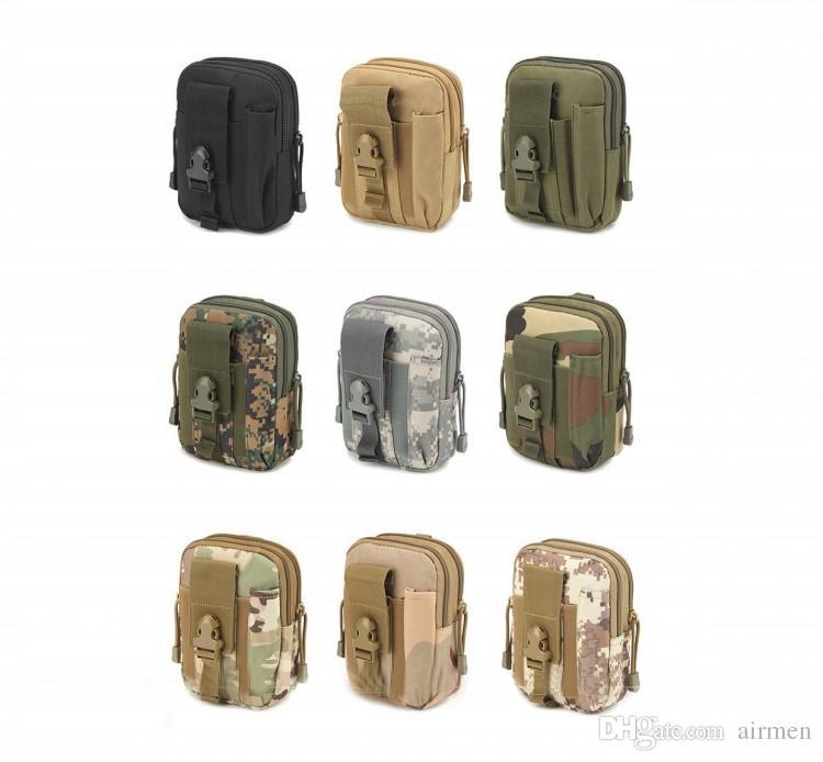 العالمي في الهواء الطلق التكتيكية الحافظة العسكرية رخوة الورك الخصر حزام حقيبة محفظة الحقيبة محفظة حالة الهاتف مع سحاب فون 7 6 6 ثانية زائد سامسونج