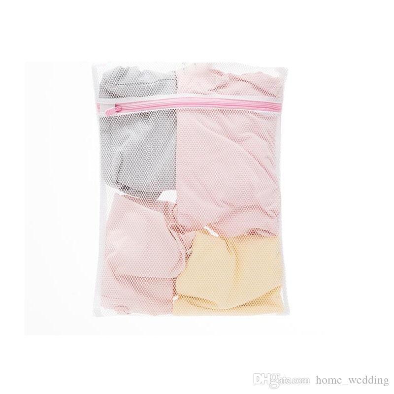 500pcs Laundry Mesh Washing Bag Size 30*40cm Polyester Fine Mesh Delicates Laundry Bag Lingerie Bag Protects Clothes